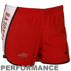 Nike Arkansas Razorbacks Cardinal Pacer Performance Shorts
