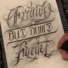 Wise Chicano Tattoos Lettering, Tattoo Lettering Styles, Graffiti Lettering Fonts, Hand Lettering Alphabet, Tattoo Script, Tattoo Fonts, Lettering Design, Chicano Drawings, Art Drawings