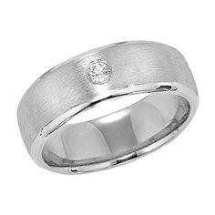 Simple, modern: men's diamond wedding ring from Lieberfarb