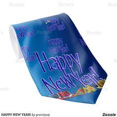 HAPPY NEW YEAR! TIE #NEWYEARSCELEBRATION #gravityx9 #Zazzle #newyearstie