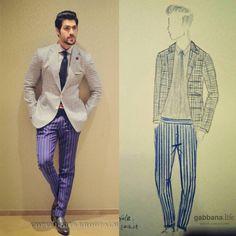 Illustration to Implementation! Mohnish Raheja influencing grey gingham plaid jacket with a pair of blue striped trousers at the launch of Osman Abdul Razak - Private Label FPW'16  #DapperDa #osmanabdulrazak #menswearinfluencer #privatelabel #OAR #fpw16 #grey #blue #fashionillustration #ginghamplaid #lightweightjacket #bespoketailor #chennai #gabbanalife #knkroad #chennaibouncesback #chennaigoesdapperda