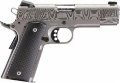 Christensen Arms high-end 1911. Titanium frame & Damascus Stainless slide.  Now being manufactured in-house to reduce cost. - The Firearm Blog