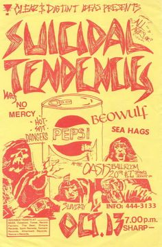 Suicidal Tendencies..see these old flyers are really funny.