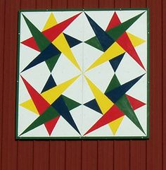 An Example of a Quilt Square on the Country Barn Quilt Trail