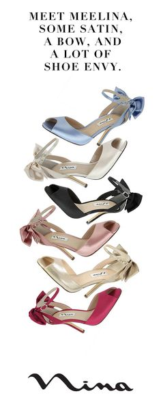 Your new shoe go-to shop! Nina Shoes.    http://ninashoes.com/?utm_source=Pinterest&utm_medium=Social%20Media%20Campaign&utm_content=Pinterest%20Ad%20Campaign%20Mileena&utm_campaign=Nina%20Homepage