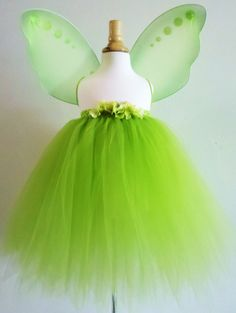 Baby Girls Tinkerbell Inspired tutu dress skirt by AydaAndEmilys, $34.95