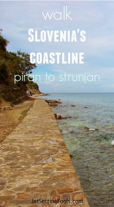 From the tip of the Piran Peninsula, the rocky Slovenian coastline trails east two and a half miles toward a protruding landmass of bulking cliffs covered in trees. The protected natural reserve, Strunjan Nature Park, is rich with diverse geological phenomena; the layers of rock that plummet into the sea formed by the crashing waves, wind and rain. Natural vegetation, as well as olive groves and vineyards, grow on Strunjan, which can be explored by foot on intertwining trails.