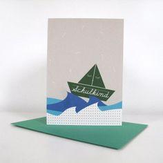 Grußkarte zum Schulanfang im Format A6 mit tafelgrünem Umschlag #design3000