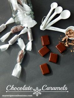 Yummy chocolate caramels recipe! Great Christmas gift!!