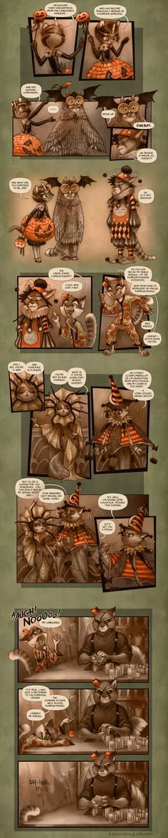 Lackadaisy Halloween by tracyjb on deviantART