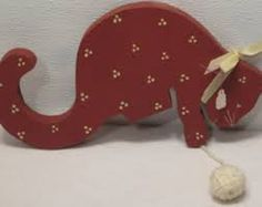 painted wooden cats - Google-Suche