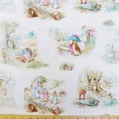Beatrix Potter Rabbits Garden Tales Cotton Fabric