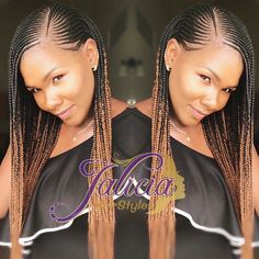 Ghana braids also known as Banana cornrows, use extensions that touch the scalp. Start by creating cornrow braids. As you go along, you need to add more synthetic hair so as to create bigger braids. This style which is also known as straight backs is cons Black Girl Braids, Braids For Black Women, Braids For Black Hair, Girls Braids, African Braids Styles, African Braids Hairstyles, Braid Styles, Girl Hairstyles, Braid Hairstyles