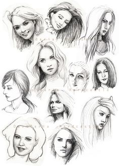 Sketches 1 by dasidaria-art on DeviantArt Drawing Heads, Human Drawing, Painting & Drawing, Pencil Art Drawings, Realistic Drawings, Art Drawings Sketches, Street Art Banksy, Hair Sketch, Art Inspiration Drawing