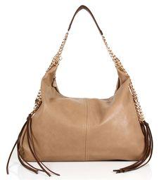 Chocolate Leather Shoulder Bag
