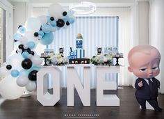 You've put a smile on my face so many times, I hope I can give you one in return on your big day. Boys First Birthday Party Ideas, Boss Birthday, Baby Boy 1st Birthday Party, 1st Birthday Party Invitations, Baby Party, Birthday Fun, Boss Baby, Birthday Decorations, Smile