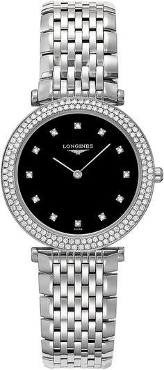 @longineswatches  La Grande Classique de Longines #add-content #bezel-diamond #bracelet-strap-steel #brand-longines #case-material-steel #case-width-31mm #delivery-timescale-1-2-weeks #dial-colour-black #gender-ladies #l45150586 #luxury #movement-quartz-battery #official-stockist-for-longines-watches #packaging-longines-watch-packaging #style-dress #subcat-la-grande-classique-de-longines #supplier-model-no-l4-515-0-58-6 #warranty-longines-official-2-year-guarantee #water-resistant-30m