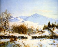 Winter Scene by Louis Remy Mignot, 1856