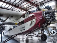 Old Ford Trimotor. This plane was used in an  Indiana Jones movie.
