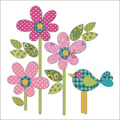 Daisy Dotz - Small - Pink - Applique By Patricia E. Ritter Laser-cut fabric applique elements backed with Steam-A-Seam 2 Flower Applique Patterns, Applique Templates, Quilt Patterns, Applique Designs Free, Owl Templates, Applique Ideas, Patchwork Quilting, Applique Quilts, Embroidery Applique