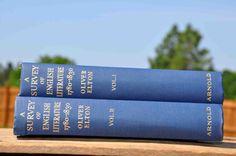 2 Volume book lot A Survey of English by MrsandMisscurio on Etsy