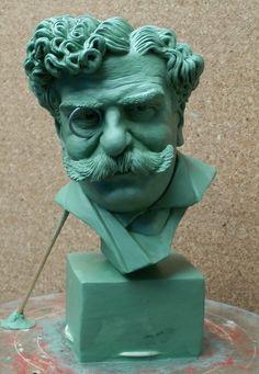 MODELING OF RAFAEL BORDALO PINHEIRO      by   CONSTANTINOS  CC   plasticine http://constantinos.com.sapo.pt/