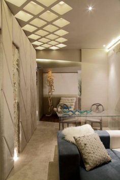 13 CASA COR 2015 spaces that stand out for their lighting, Interior Ceiling Design, House Ceiling Design, Ceiling Design Living Room, Bedroom False Ceiling Design, Luxury Bedroom Design, Ceiling Light Design, Home Ceiling, Ceiling Decor, House Design