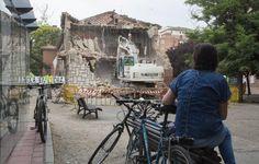 Comienza el derribo del colegio San Juan de la Cruz de La Rondilla