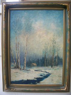 Vintage Original Painting Cottage in the Woods SALE by luciawren, $68.00