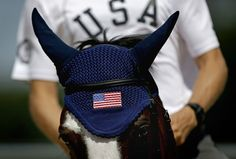 United States rider Boyd Martin, and his horse Otis Barbotiere train for the equestrian eventing competition at the 2012 Summer Olympics July 26.