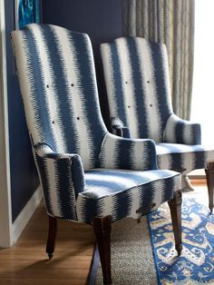 Recovered Armchairs - A Formal Dining Room That's Not Fussy on HGTV