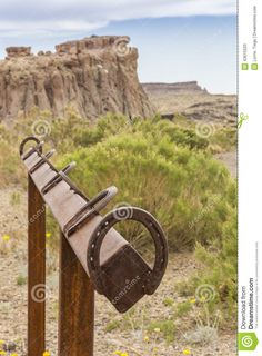 Horseshoe Hitching Post - Download From Over 45 Million High Quality Stock Photos, Images, Vectors. Sign up for FREE today. Image: 43615520