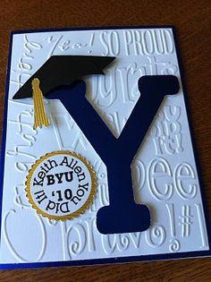 Graduation Card - love the embossing folder