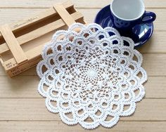 Crochet Doily, Small Doily, White Doily, Elegant Doily, Japanese Lace Doily, Wedding Doily, Lace Doilies, Mother's Day Gift Ideas