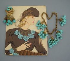 Vintage Advertising piece for Miriam Haskell Jewelry...