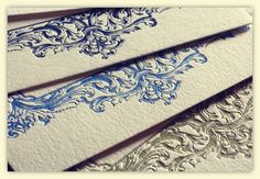 Vintage Ornate Themed LetterPress Wedding Invitations