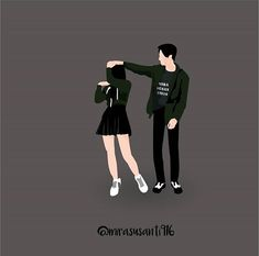 Gambar mungkin berisi: satu orang atau lebih Cute Couple Drawings, Anime Couples Drawings, Cute Couple Art, Anime Love Couple, Cute Anime Couples, Cute Drawings, Couple Wallpapers, Cute Couple Wallpaper, Chibi Couple