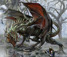 The Art of Jon Sullivan-The Pass-3 Dragon Fantasy Myth Mythical Mystical Legend Dragons Wings Sword Sorcery Magic