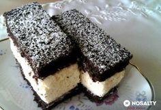 Habkönnyű grízes-kókuszos szelet Cold Desserts, No Bake Desserts, Dessert Recipes, Hungarian Desserts, Hungarian Recipes, Czech Recipes, Cake Bars, Winter Food, Cakes And More