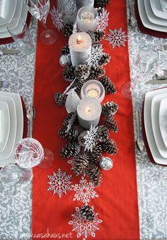 Christmas tablescape / Mesa de Navidad - Casa Haus Deco                                                                                                                                                                                 Más