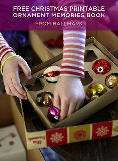 DIY Christmas Ornament Memories Book | Document your holiday history and record the story of your family ornaments with our free printables. #Hallmark #HallmarkIdeas