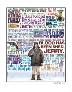 This was a Fargo tribute poster I found, obviously I'm unable to use illustrations etc but it showed very nice examples of varied type Brothers Film, Coen Brothers, Ron Swanson, Quote Posters, Film Posters, Cello, Parks And Recreation, Film Quotes, Fargo Quotes