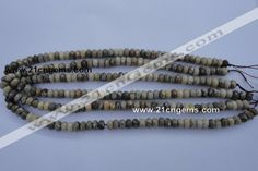 5*8mm faceted rondelle natural chrysanthemum agate gemstone beads