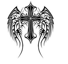 Angel Wings Tattoo Gallery 50 Cross Tattoos Tattoo Designs Of