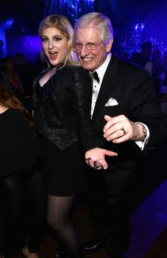 Meghan Trainor celebrates with her dad.