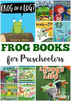 Get your little one learning about amphibians with these fun frog books for preschool! Preschool Books, Preschool Curriculum, Preschool Themes, Preschool Lessons, Kindergarten Activities, Kindergarten Reading, Homeschooling, Reptiles Preschool, Frog Activities