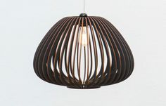 Already ASSEMBLED wooden lamp - coloured wooden light - wood light - hanging lamp - hanging light - black wooden lamp Tokyo S This wooden hanging lamp Laser Cut Lamps, Torchiere Lamp, D House, Kitchen Pendant Lighting, Pendant Lamps, Contemporary Floor Lamps, Diy Holz, Wood Lamps, Light Project