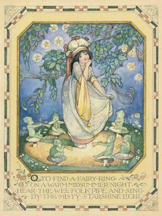 """Ethel Larcombe (1879-1965),  """"O to find a fairy ring on a warm midsummer night…"""""""