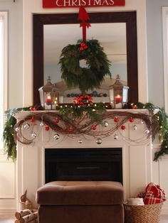 Great fireplace display!