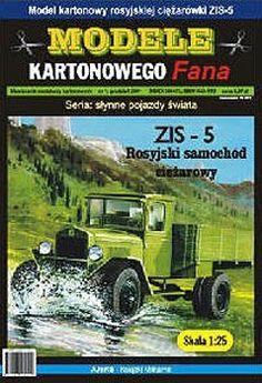 model kartonowy samochodu zis-5